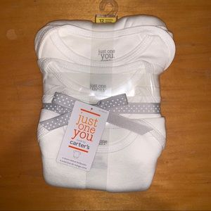 Carter's One Pieces - White Onesies NWT - 12M